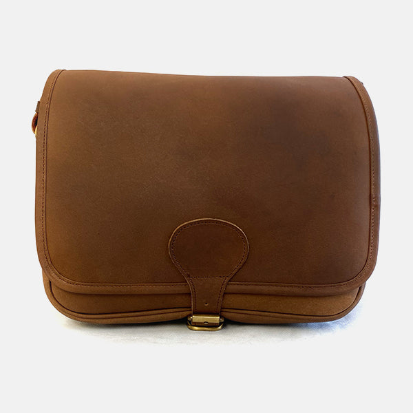 Distressed Leather Large Cartridge Bag