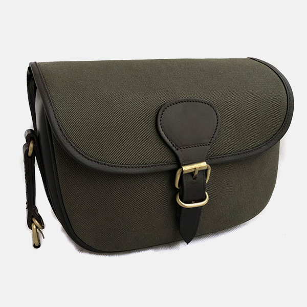 Canvas & Leather Shotgun 90 Cartridge Bag