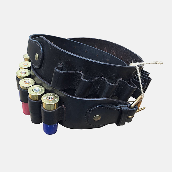Leather Shotgun Cartridge Belt 12g Open