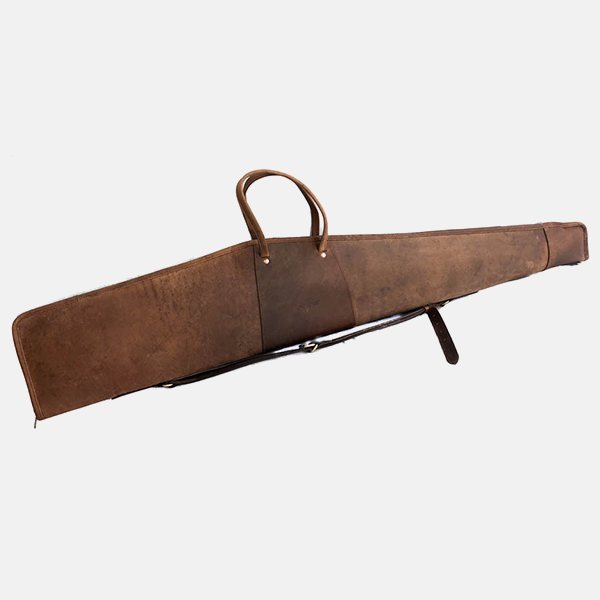 Leather Rifle Case Distressed Brown