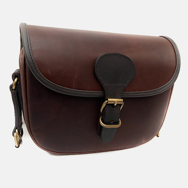 Leather Shotgun Cartridge Bag Latigo Brown