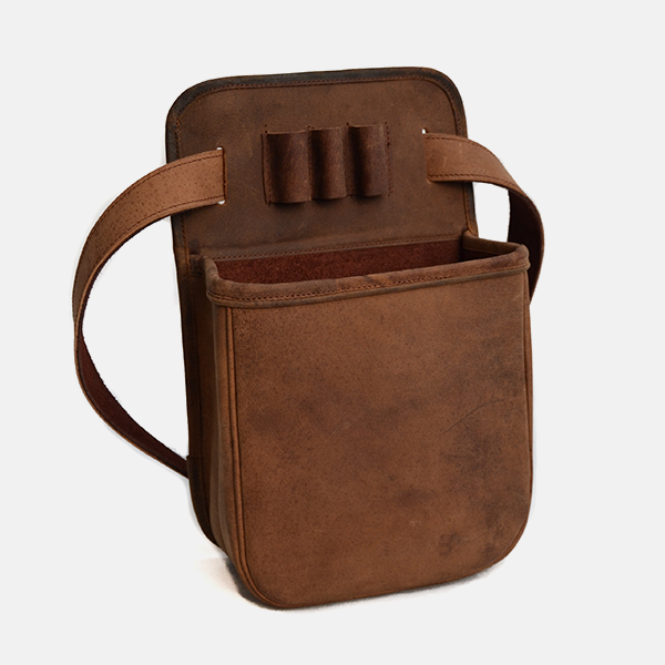Leather Shotgun Cartridge Pouch Bag Distressed