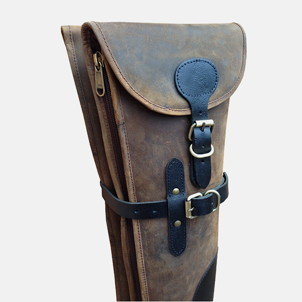 Double Shotgun Slip Distressed Leather