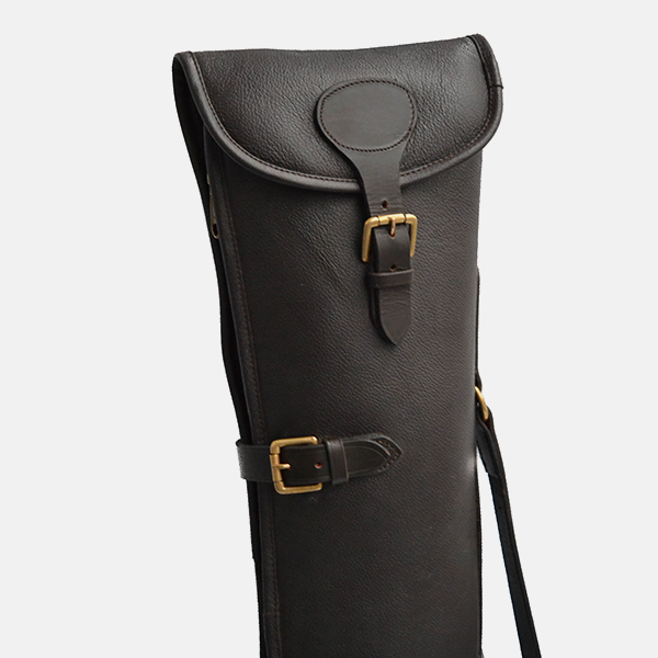 Leather Shotgun Slip Case Havana Brown