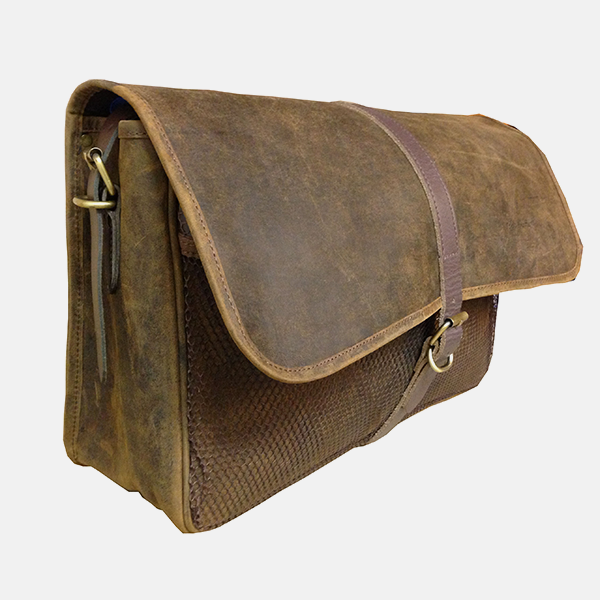 Brown Leather Shooting Game Fishing Hunting Bag