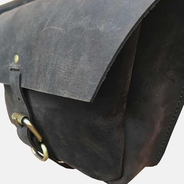 Vintage Leather Bicycle Pannier Bag Single Double