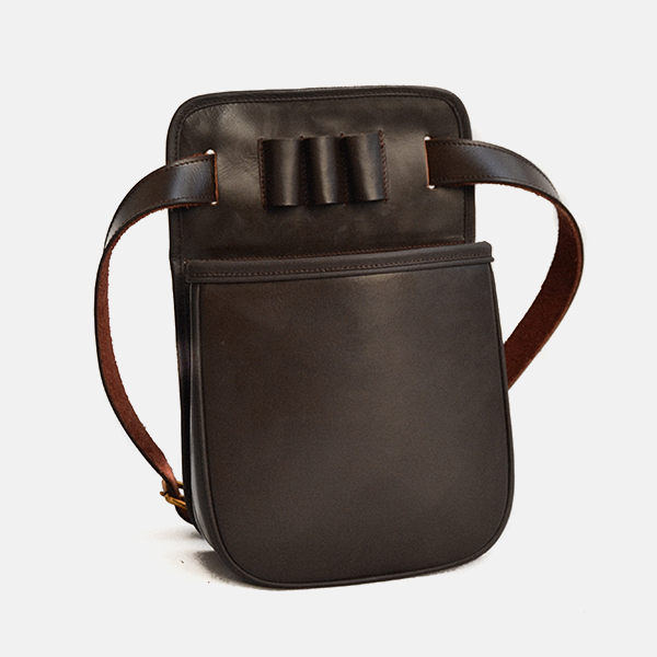 Leather Shotgun Cartridge Pouch Bag Havana