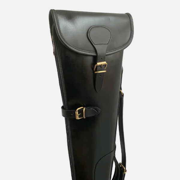 Bridle Black Leather Shotgun Slip Case