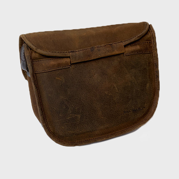 Thick Brown Leather Shotgun 90 Cartridge Bag