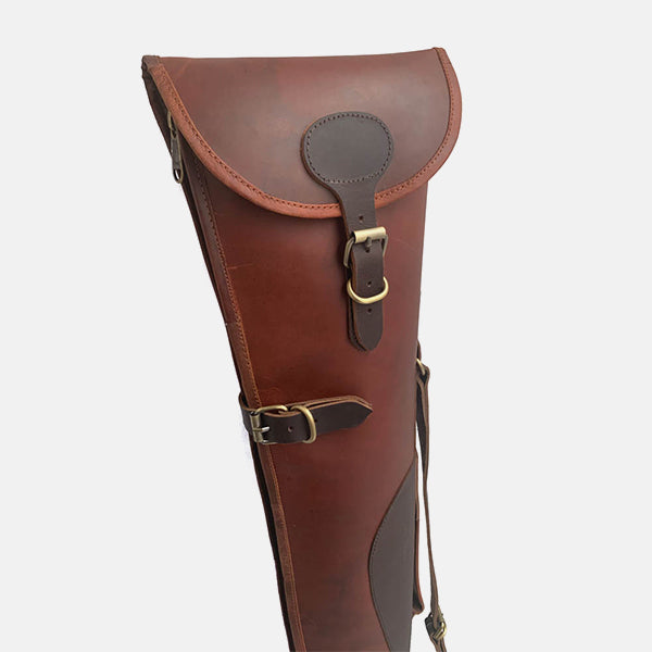 Leather Shotgun Slip Case Rustic Oxblood