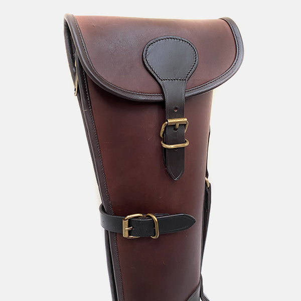 Leather Shotgun Slip Case Latigo Brown