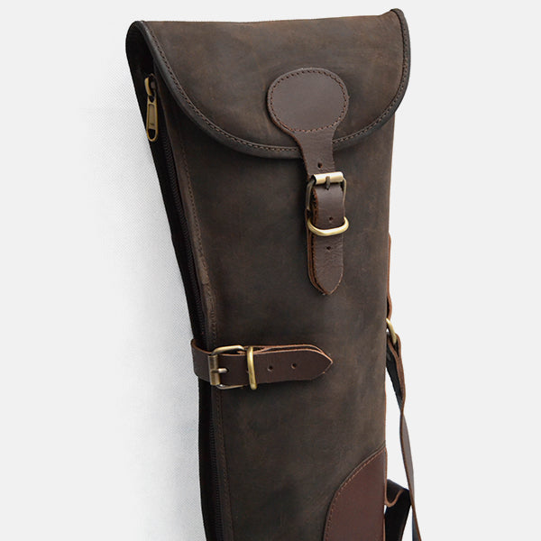 Leather Shotgun Slip Case Waxed Brown