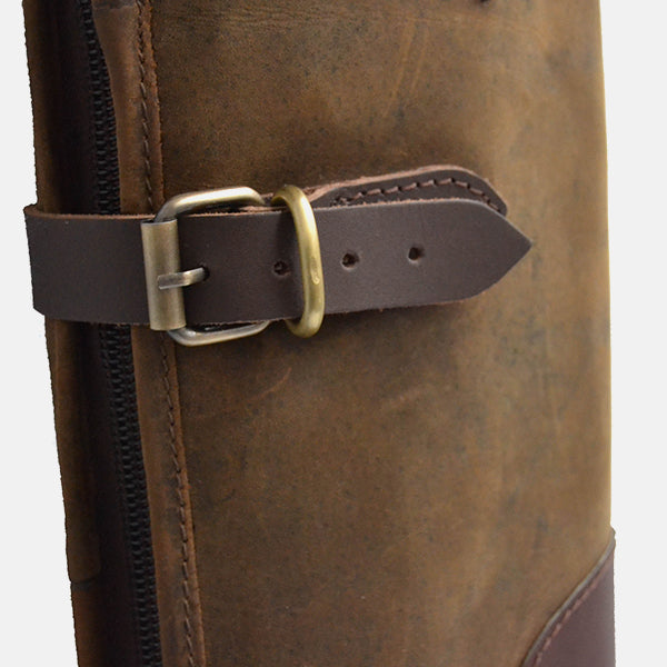 Leather Shotgun Slip Case Distressed Brown