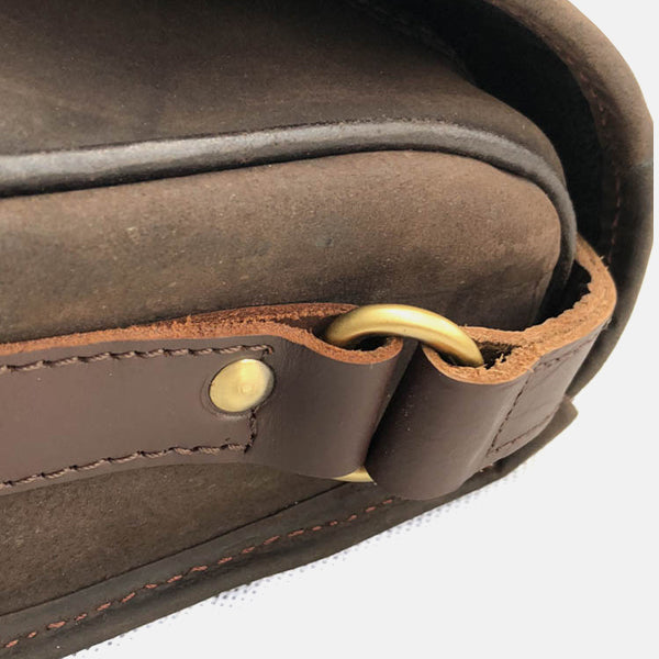 Waxed Leather Shotgun Cartridge Bag