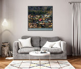 Seaside Living - Wrapped Canvas