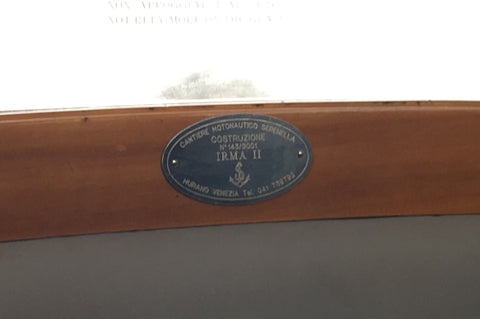Inscription of Water taxi