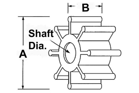 Impeller-Ding Drive Keyway