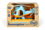 Green Toys Seacopter (Color: Light Blue & Orange) (Front View of Seacopter in product packaging)