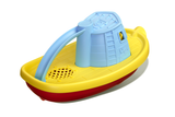Green Toys Tugboat (Colors: blue handle, yellow & red hull) (Back/Side View)
