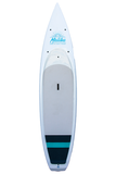"Pau Hana Surf Supply 11'6"" Malibu Tour VFT Stand Up Paddle Board (Colors: White with Blue Rails) (Front View)"