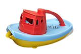 Green Toys Tugboat (Colors: red handle, yellow & blue hull) (Front/Side View)