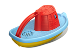 Green Toys Tugboat (Colors: red handle, yellow & blue hull) (Back/Side View)