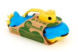 Green Toys Submarine in product's packaging (Color: yellow & blue) (Side View)