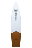 "Pau Hana Surf Supply 12'0"" Endurance Stand Up Paddle Board (Colors: Matte Olive Brown, White, & Burnt Orange) (Back View)"
