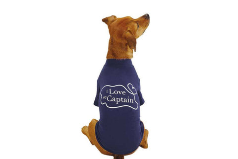 I Love My Captain Dog T-Shirt