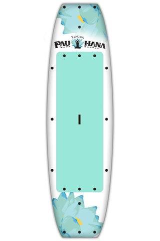 "Pau Hana Surf Supply 10'0"" Lotus Stand Up Paddle Board (in AQUA) (Front View)"