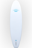 "Pau Hana Surf Supply 10'6"" Malibu Classic VFT Stand Up Paddle Board (Color: White Blue Rail) (Back View)"