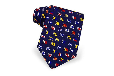 A-Z International Code Flags Tie