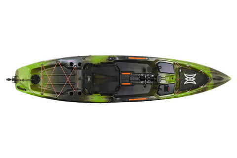 Perception Pescador Pilot 12 (Color: Moss Camo) (Top View)
