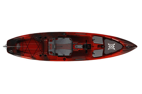 Perception Pescador Pilot 12 (Color: Red Tiger Camo) (Top View)