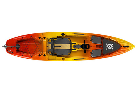 Perception Pescador Pilot 12 (Color: Sunset) (Top View)