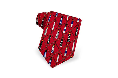 Lighthouse Tie Red