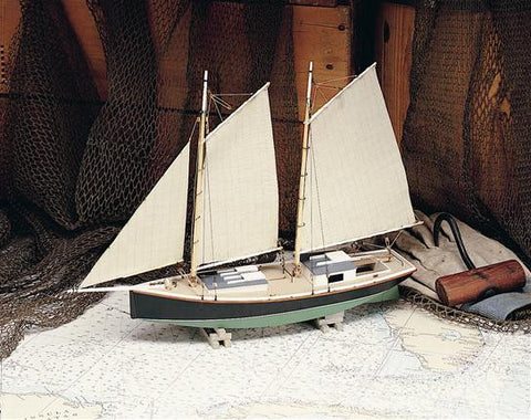 Sharpie Schooner Boat Model