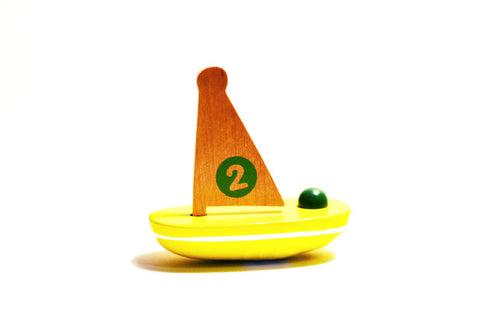 Wooden Sailboat Bath Toy