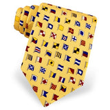 A-Z International Code Flags Tie - Yellow