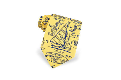 Sail Plans Tie Yellow