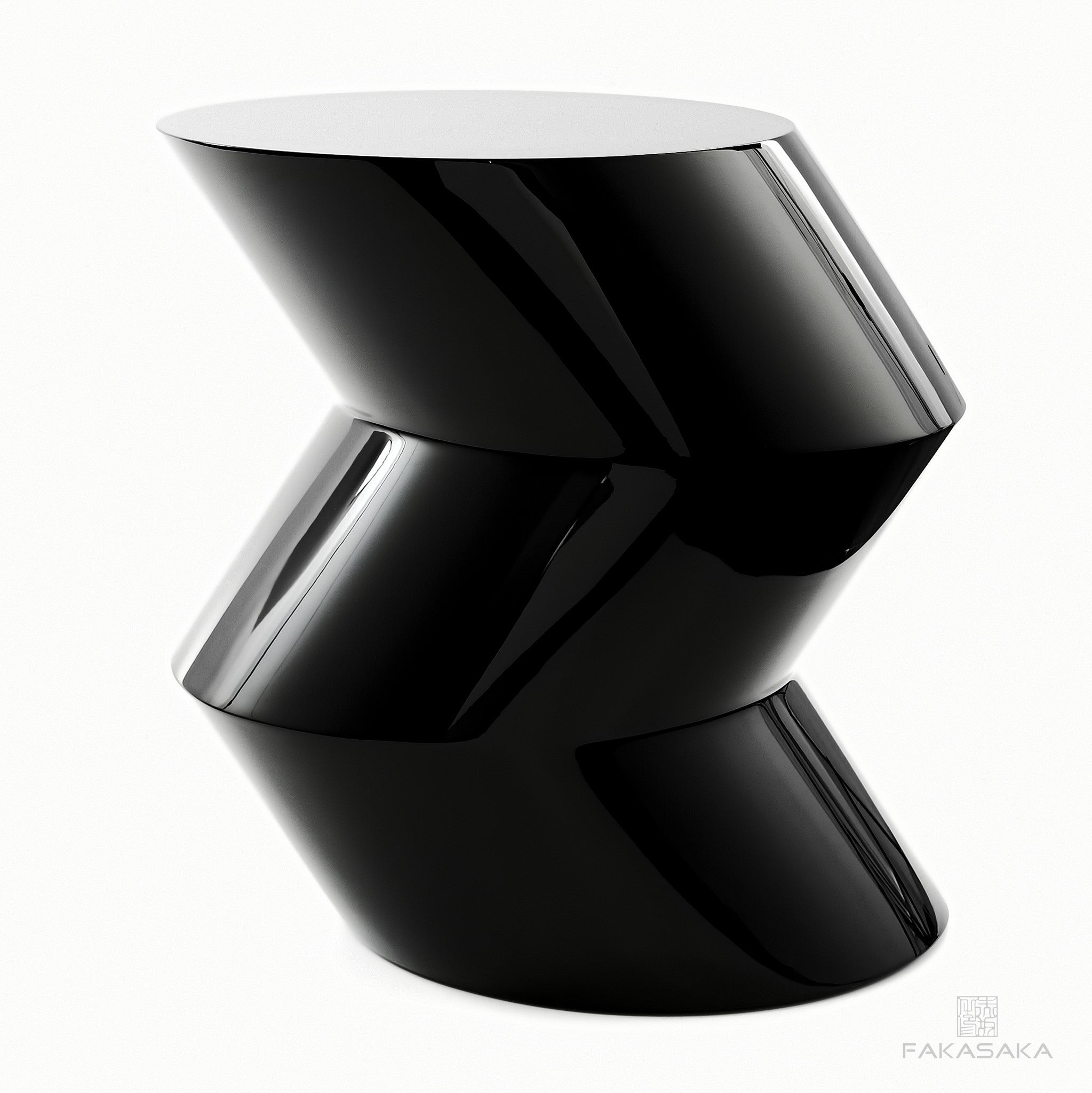 FA10 SIDE TABLE / DRINK TABLE<br><br>LACQUER BLACK