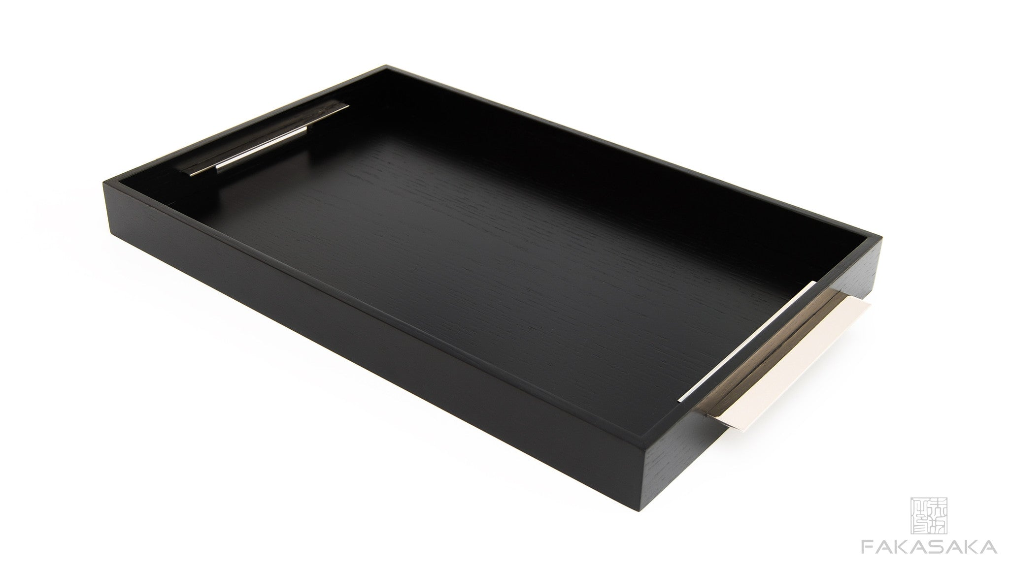 TRAY I BAR TRAY<br><br>EBONIZED OAK