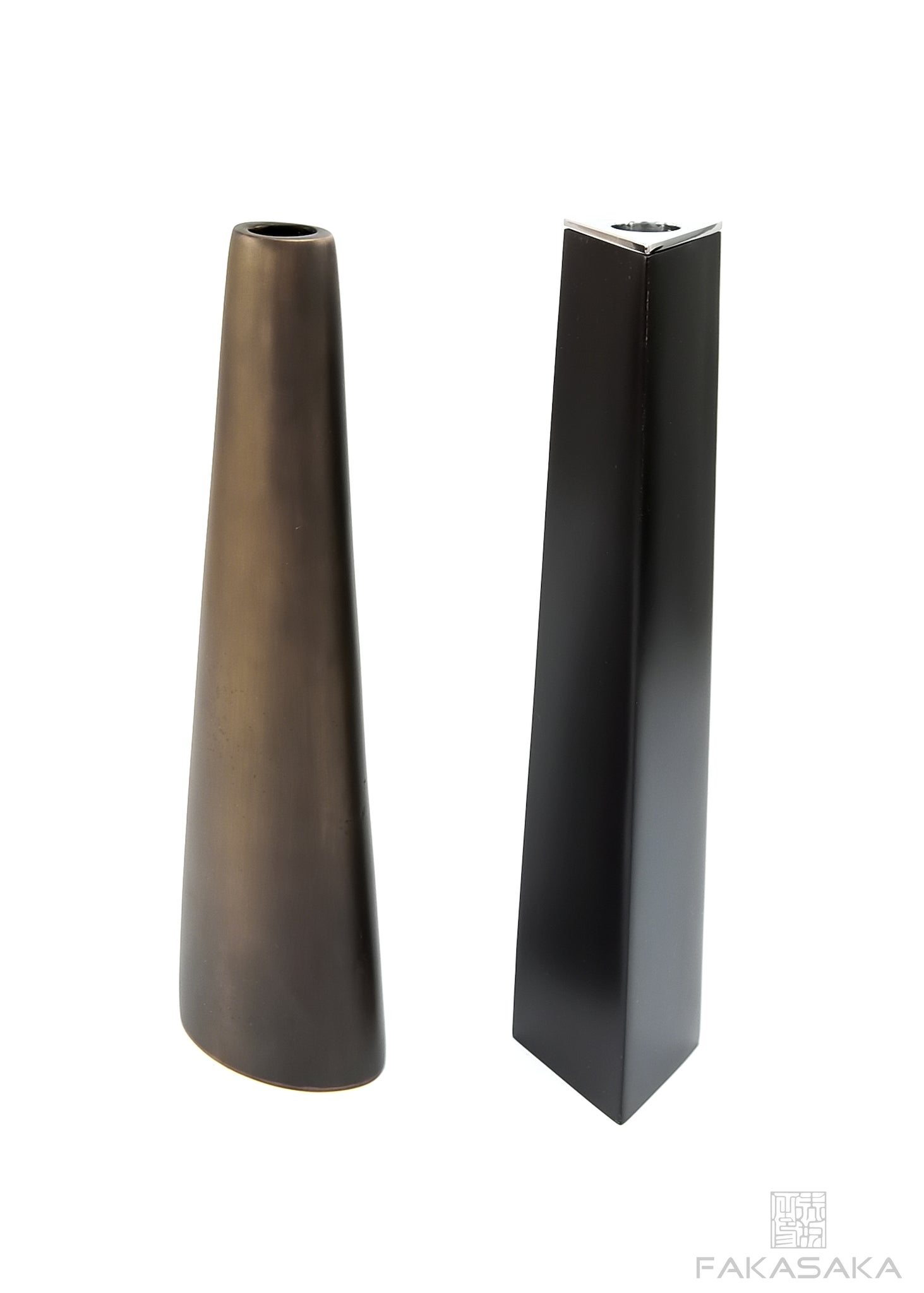 HEATHER CANDLE HOLDER<br><br>DARK BRONZE