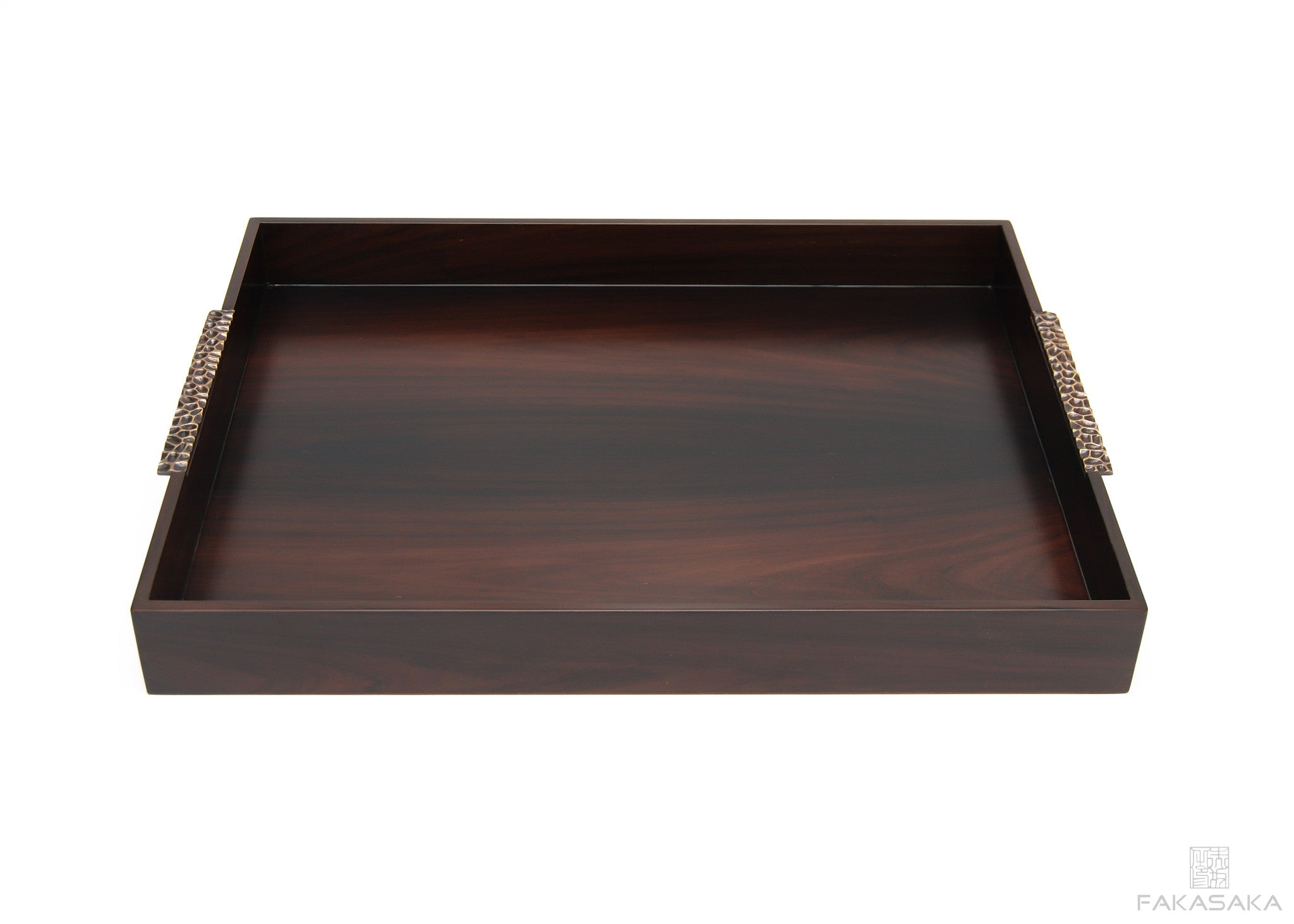 TRAY II BAR TRAY<br><br>EBONIZED SANTOS ROSEWOOD