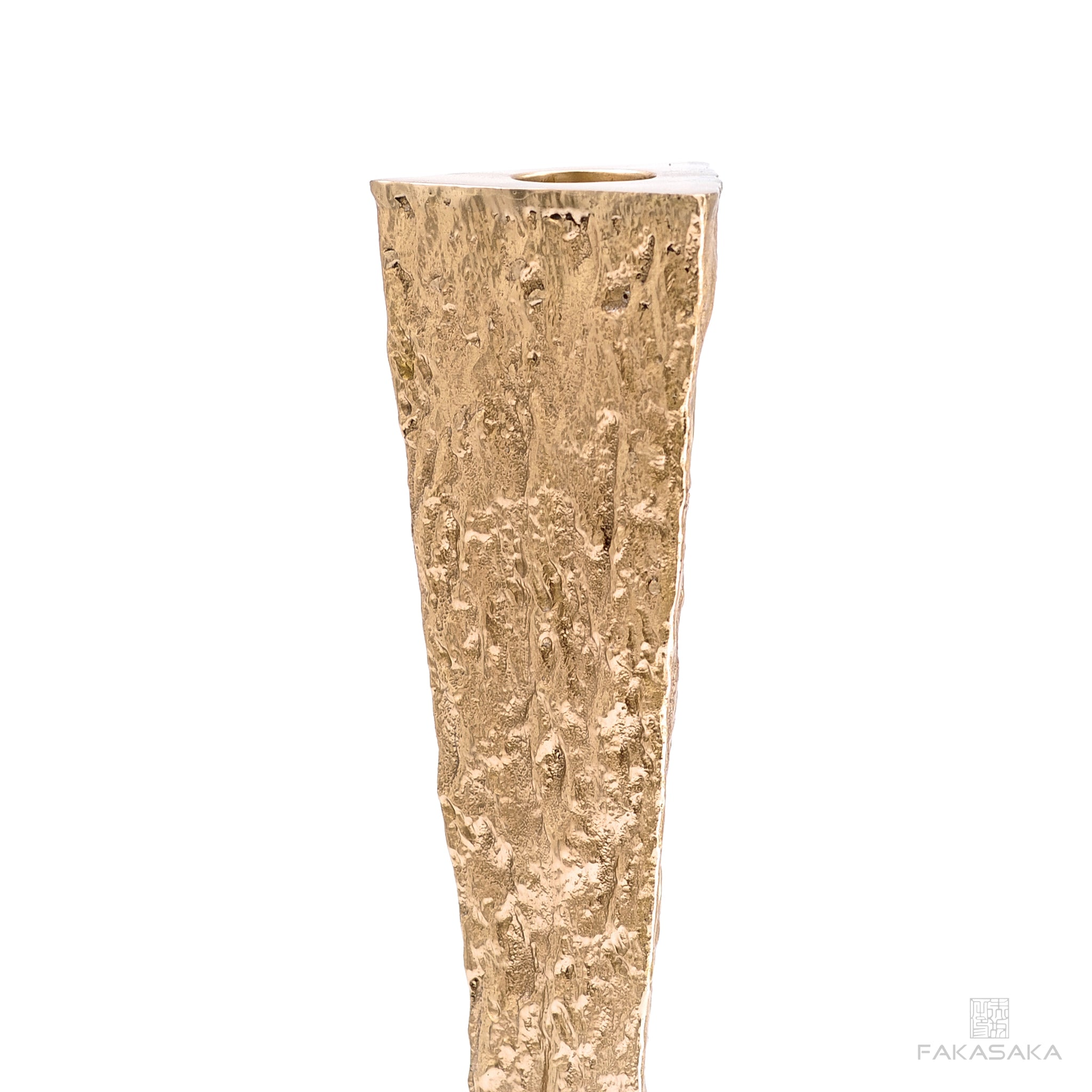 JANIS CANDLE HOLDER<br><br>POLISHED BRONZE