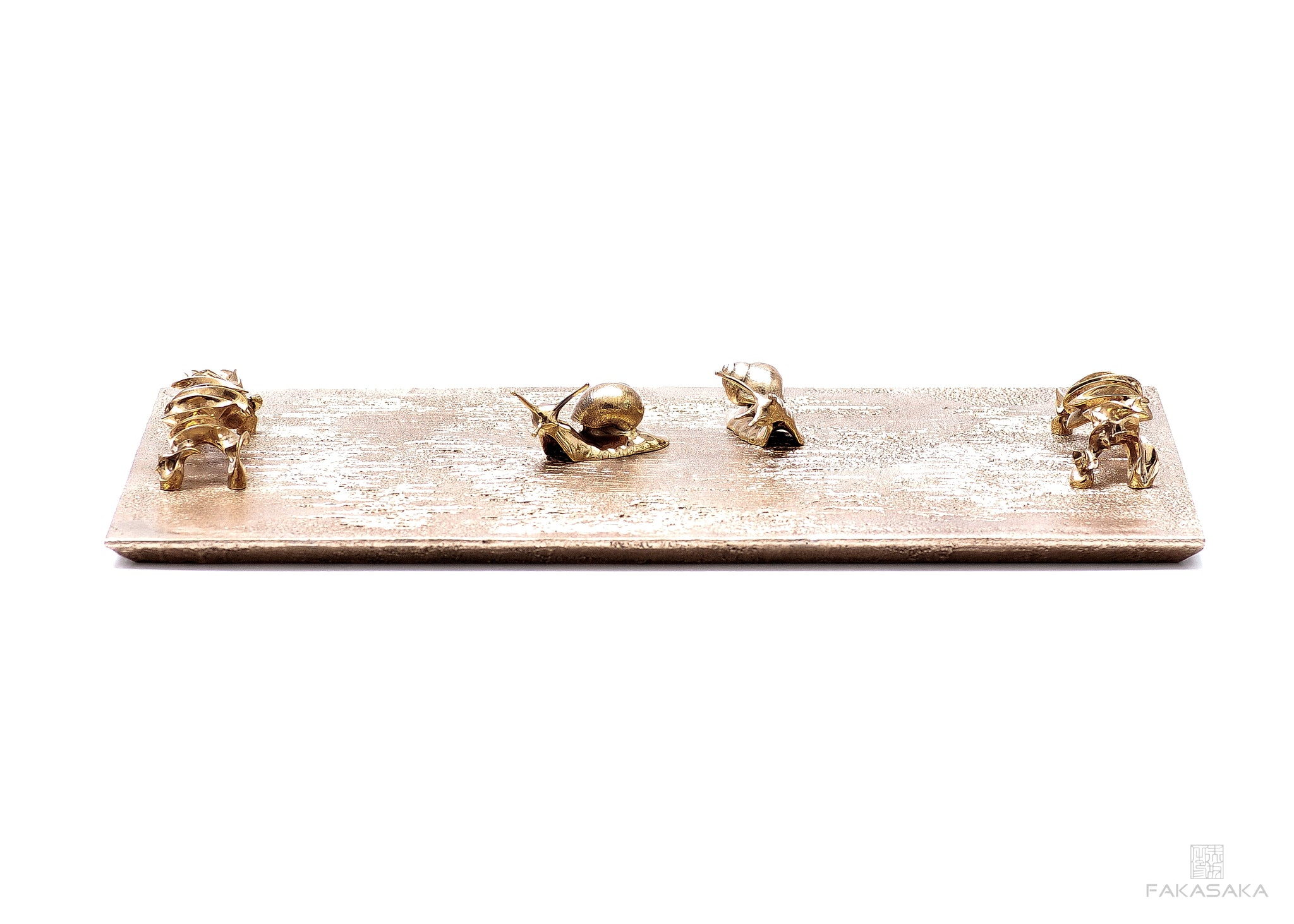 MARIAE BAR TRAY<br><br>POLISHED BRONZE