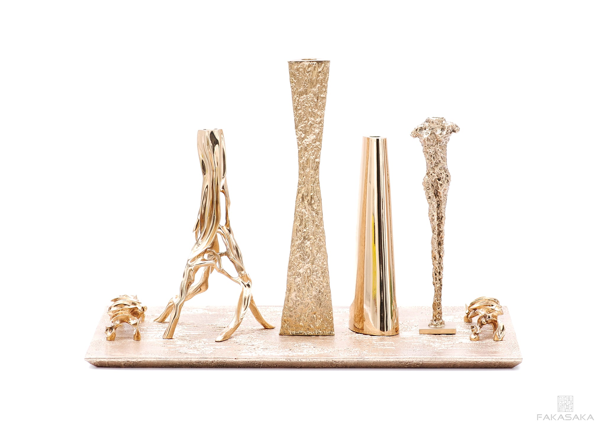 ALEXIA CANDLESTICK<br><br>POLISHED BRONZE