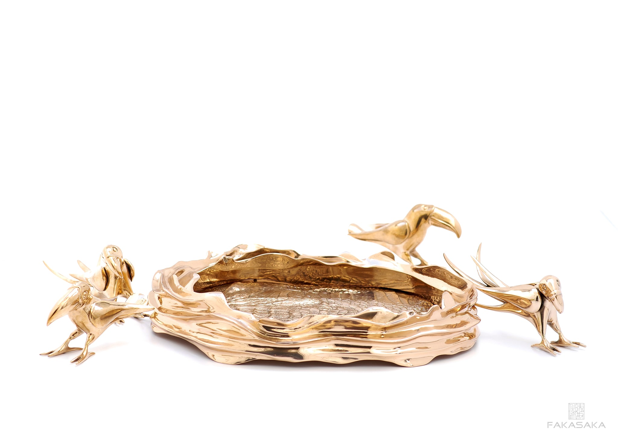 DEAR SONIA BOWL / CENTERPIECE<br><br>CROCODILE<br>POLISHED BRONZE