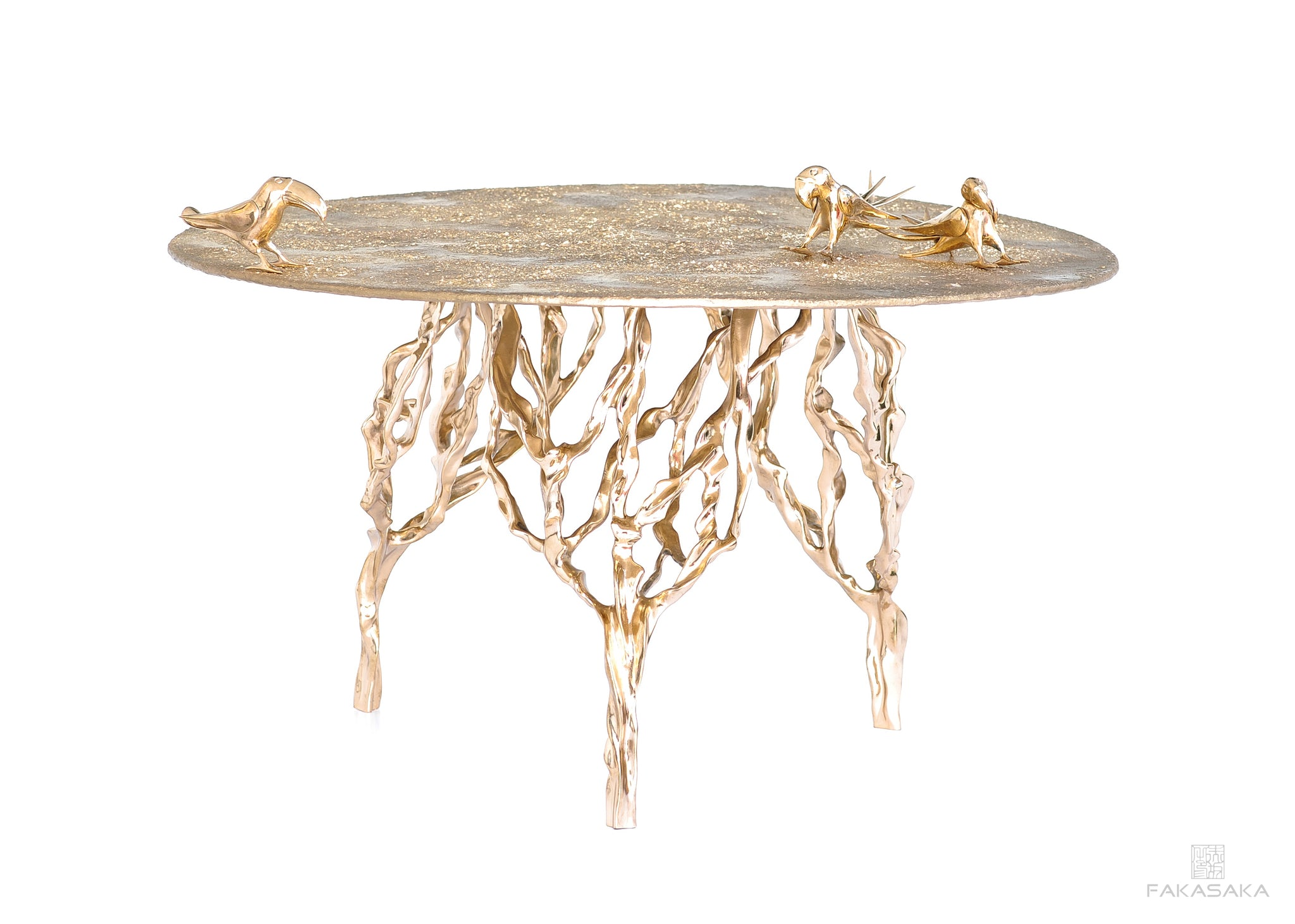 SOL COCKTAIL TABLE <br><br>BRONZE TOP<br>POLISHED BRONZE