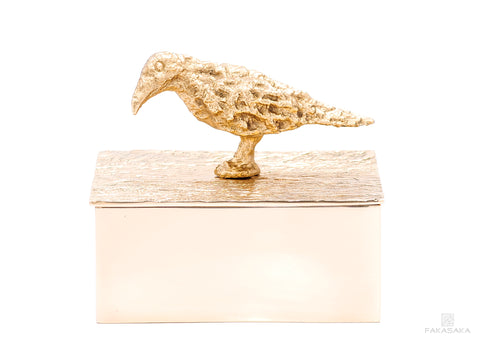 NICKS BOX<br>BLACKBIRD ON TOP<br><br>POLISHED BRONZE